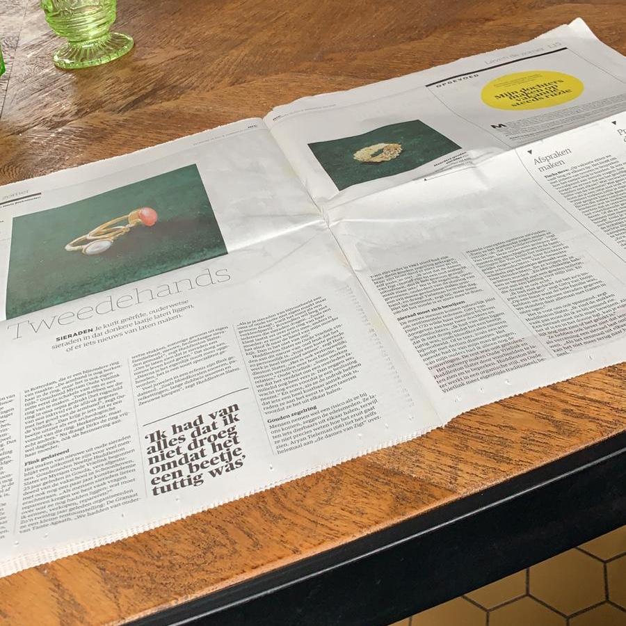 Artikel over Zigt Sieraden in het NRC Handelsblad